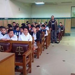زيارة ميدانية للمحكمة الإبتدائية بمراكش لفائدة تلاميذ المستوى الثاني إعدادي يوم الجمعة 22 فبراير 2019